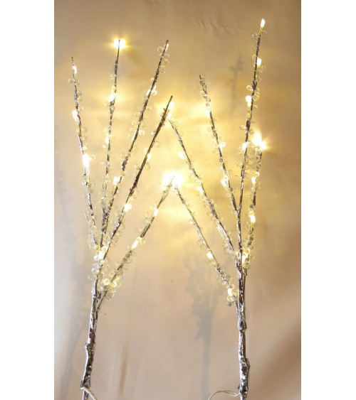 Branches perles lumineuses clignotantes Décoration de table  ALSACESHOPPING