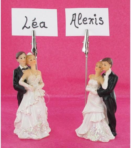 Marque place couple de mariés Décoration de table  ALSACESHOPPING