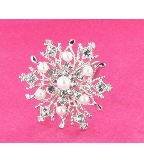Rond de serviette perles et strass Décoration de table  ALSACESHOPPING