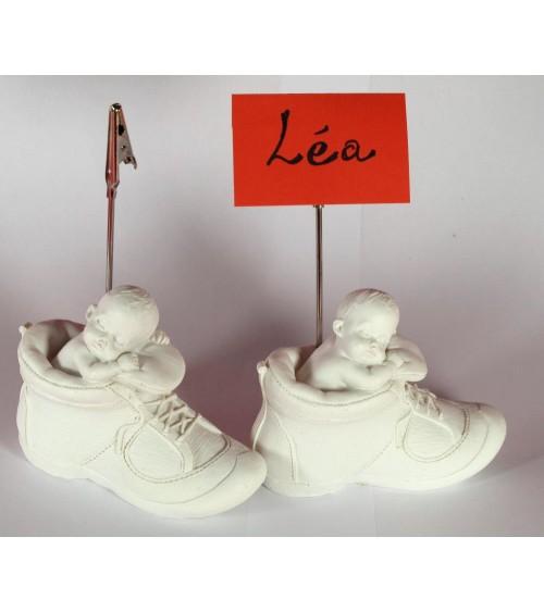 Figurine bébé porte carte marque place lot de 2 Décoration naissance ou baptème ALSACESHOPPING