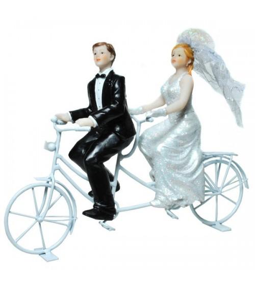 Figurine de mariés sur un tandem Figurines de mariée ALSACESHOPPING
