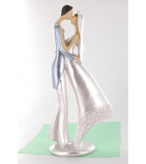 Statuette couple de mariés moderne 30 cm Figurines de mariée ALSACESHOPPING