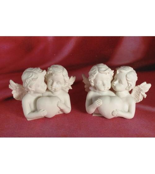 Le lot de 2 petits anges avec coeur Anges ALSACESHOPPING