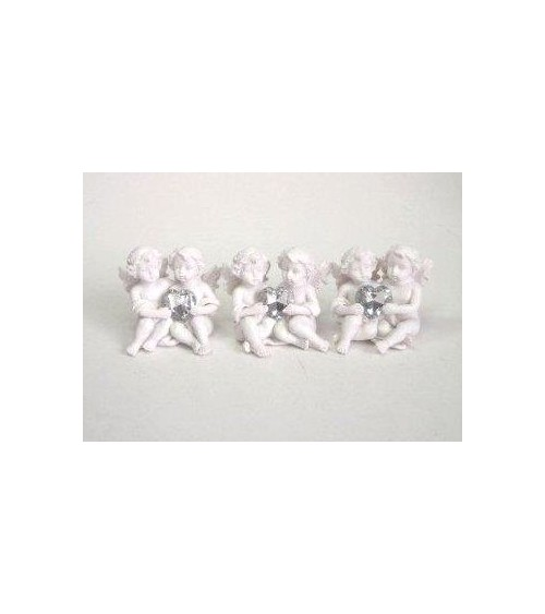 Figurine couple d'angelots le lot de 3 pièces Anges ALSACESHOPPING