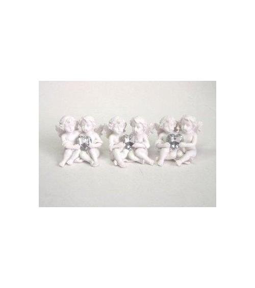 Figurine couple d'angelots le lot de 3 pièces Anges ALSACESHOPPING