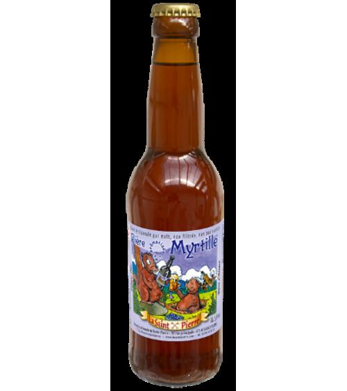 Bière Myrtille -Lot de 6 Bouteilles -Brasserie Saint-Pierre Nos bières artisanales ALSACESHOPPING