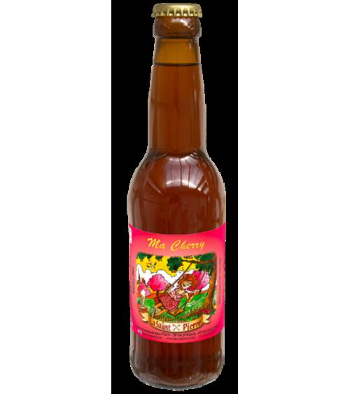 Bière  Ma Cherry -Lot de 6 Bouteilles -Brasserie Saint-Pierre Nos bières artisanales ALSACESHOPPING