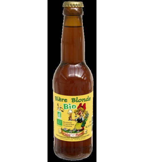 Bière  Bio Blonde-Lot de 6 Bouteilles -Brasserie Saint-Pierre Nos bières artisanales ALSACESHOPPING
