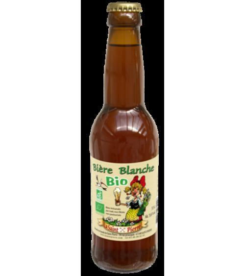 Bière Bio Blanche-Lot de 6 Bouteilles -Brasserie Saint-Pierre Nos bières artisanales ALSACESHOPPING