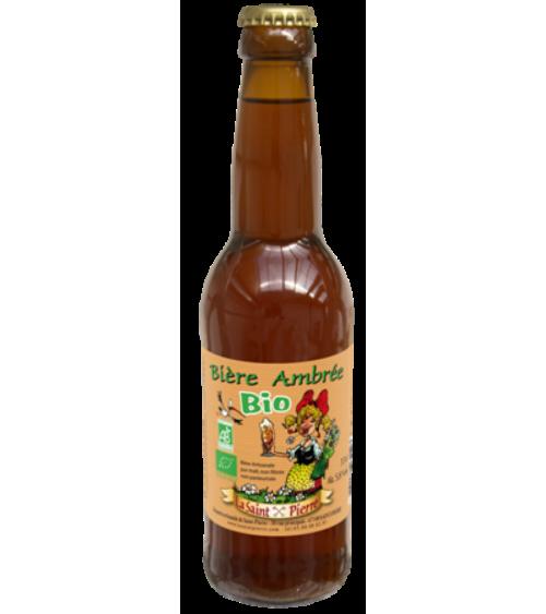Bière Bio Ambrée-Lot de 6 Bouteilles -Brasserie Saint-Pierre Nos bières artisanales ALSACESHOPPING