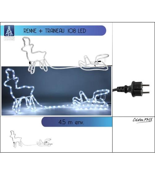 Silhouette de noel renne Animations et guirlandes lumineuses ALSACESHOPPING