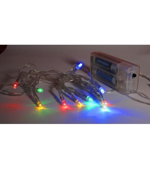 Mini guirlande à pile LED multicolore Animations et guirlandes lumineuses ALSACESHOPPING