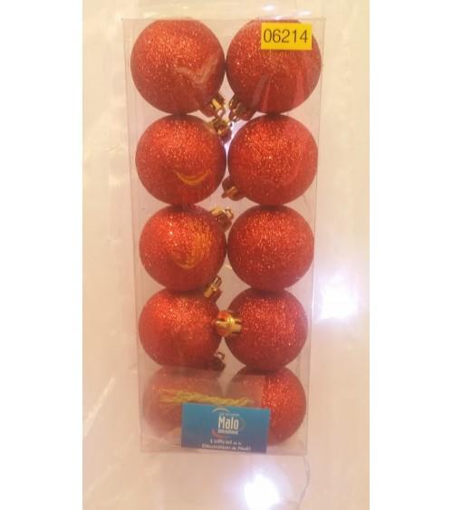 Lot de 10 boules de Noel paillettes Boules et sujets à suspendre ALSACESHOPPING