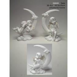Angelot avec perle et lune