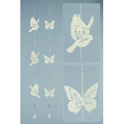 Guirlande papillons en métal, le lot de 2 Objets de décoration ALSACESHOPPING