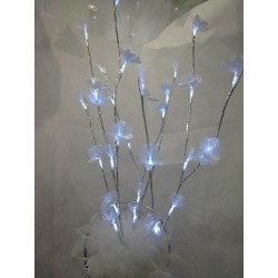 Bouquet fibre optique led blanche Décoration de table  ALSACESHOPPING