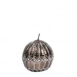 Bougie boule diamant marron avec strass Bougies et senteurs ALSACESHOPPING