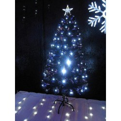 Sapin de Noel en fibre optique led  blanche Sapin et arbre artificiel ALSACESHOPPING