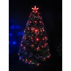 Sapin fibre optique 90 cm led rouge Sapin et arbre artificiel ALSACESHOPPING