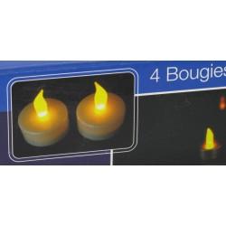 Le lot de 4 bougies d'ambiance de décoration rechargeables Bougies et senteurs ALSACESHOPPING