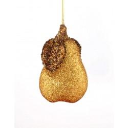Décoration de sapin, poire or Boules et sujets à suspendre ALSACESHOPPING