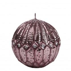Bougie boule diamant violet avec strass Bougies et senteurs ALSACESHOPPING