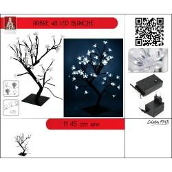 Arbre lumineux 45 cm leds blanches Sapin et arbre artificiel ALSACESHOPPING