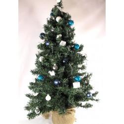 Sapin de noel artificiel bleu et blanc Sapin et arbre artificiel ALSACESHOPPING