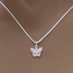 Pendentif papillon rose Bijoux et coffrets à bijoux ALSACESHOPPING