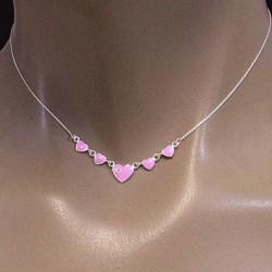 Collier de cœurs rose Bijoux et coffrets à bijoux ALSACESHOPPING