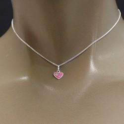 Pendentif coeur rose Bijoux et coffrets à bijoux ALSACESHOPPING