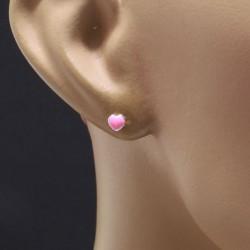 Boucles d'oreilles coeur rose Bijoux et coffrets à bijoux ALSACESHOPPING