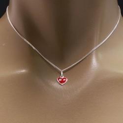 Collier enfant avec coeur rouge Bijoux et coffrets à bijoux ALSACESHOPPING