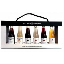 PLAQUETTE 6 MIGNONETTES CRÈMES & LIQUEURS Distillerie MASSENEZ Distillerie ALSACESHOPPING